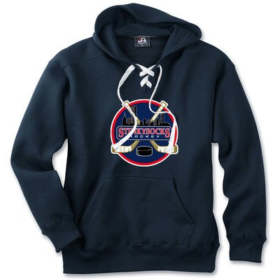 SSH Classic Lace-Up Hoodie in Navy