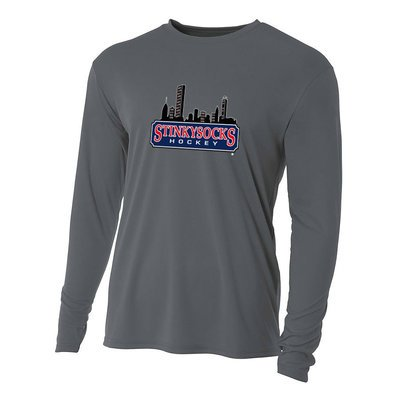 SSH Dark Grey Performance Long Sleeve Tee