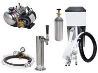 Seltzer Draft Arm (Cylinder) Soda System w/ Lancer Remote Chiller (L1000c)