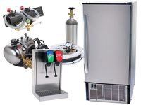 2-Flavor Home Soda Fountain Tower System with Under Counter Ice Maker (S2150)