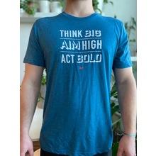 Think Aim Act T-Shirt - Blue