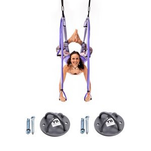 Yoga Trapeze - Purple PRO - w/Ceiling Hooks, FREE Shipping