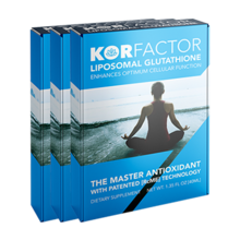 KORfactor™ Liposomal Glutathione 1.35FL OZ THREE BOXES Special