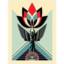 "Obey Giant ""Lotus Angel"" Signed Screen Print"