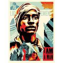 "Obey Giant ""Voting Rights Are Human Rights"" Signed Screenprint"