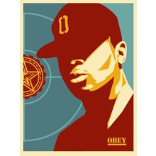 "Obey Giant ""Chuck Dee: Fight The Power"" Signed Screen Print"