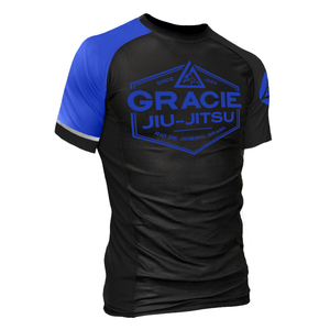 Blue Rank Short-Sleeve Rashguard (Men)