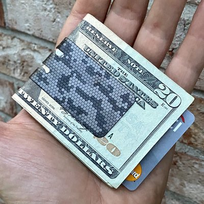 Black Diamond mini-VIPER Money Clip with REPTILE CAMO FINISH
