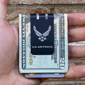 Black Diamond mini-VIPER Money Clip - Precision Engraved USAF Insignia