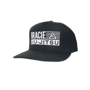 GJJ Stripe Embroidered Snapback Hat