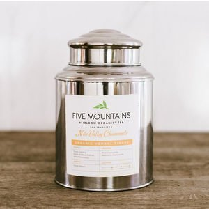 "Double Lidded Stainless Steel Canister (3 lb - 11""hx7.5""d)"