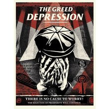 "Obey Giant ""Greed Depression"" Signed Screen Print"