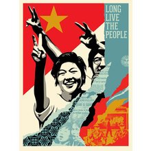 "Obey Giant ""Long Live The People"" Signed Screen Print"