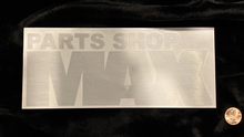 "MAX Logo Sticker 8"" BRUSHED ALUMINUM"