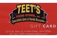 $75 Teet's Gift Certificate