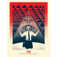 "Obey Giant ""Conformity Trance - Red"" Signed Screen Print"