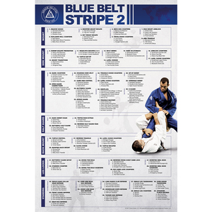 "Blue Belt Stripe 2 Poster (24x36"")"