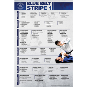 "Blue Belt Stripe 1 Poster (24x36"")"