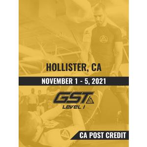 Level 1 Full Certification (CA POST Credit): Hollister, CA (November 1-5, 2021) TENTATIVE