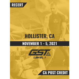 Recertification (CA POST Credit): Hollister, CA (November 1-5, 2021) TENTATIVE