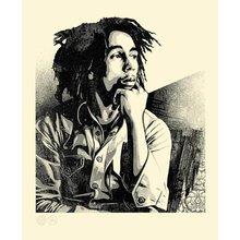 """Obey Giant """"Bob Marley - Soul Rebel"""" Signed Letterpress"""