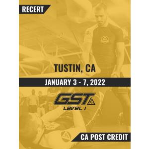 Recertification (CA POST Credit): Tustin, CA (January 3-7, 2022) TENTATIVE