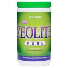 Zeolite powder with included measuring scoop
