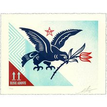 """Obey Giant """"Rise Above Bird"""" Signed Letterpress"""